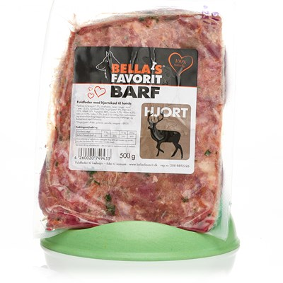 Bella's Favorit Barf 500g Hjort