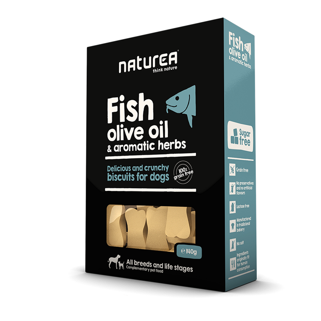 Naturea Biscuits Fish&OliveOil 140g