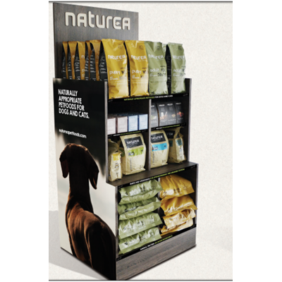 Naturea Display Tørfoder Reol 86x75x140